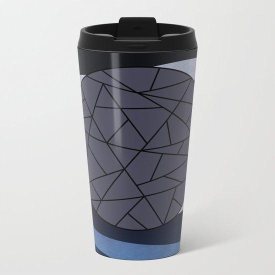 DARK MOON (abstract geometric) Metal Travel Mug