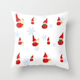Christmas Santas' pattern Throw Pillow