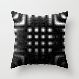White Dots Fade to Black Throw Pillow
