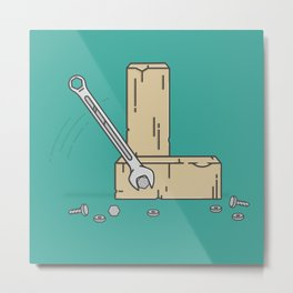 Ye Old Wrench Metal Print