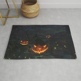 Jacks & Witch Cats Rug