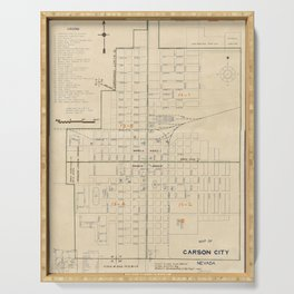 Vintage map of Carson City NV (1940) Serving Tray