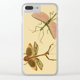 Naturalist Stick Bugs Clear iPhone Case