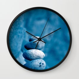 Stacked pebbles Wall Clock