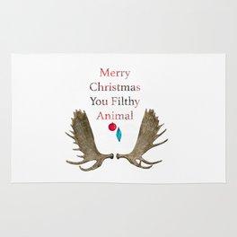 Merry Christmas You Filthy Animal Rug