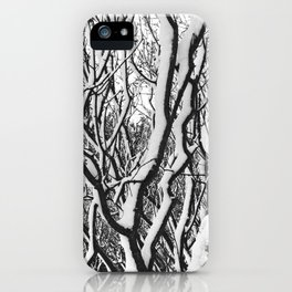 sleepy trees iPhone Case