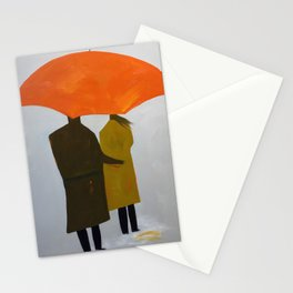 Umbrella Couple Stationery Cards