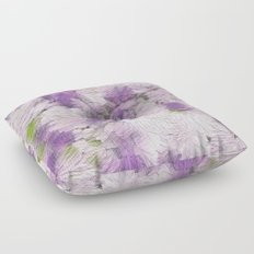 Purple - Lavender Fluffy Floral Abstract Floor Pillow