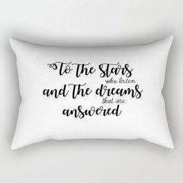 the stars who listen Rectangular Pillow