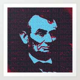 LINCOLN - RED Art Print