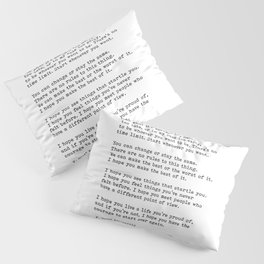 For What It's Worth, Life, F Scott Fitzgerald Motivational Quote Pillow Sham