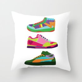 My Kicks Throw Pillow