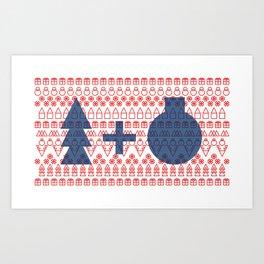 Geometric Christmas Pattern Art Print