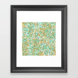 grid in brown and green Framed Art Print