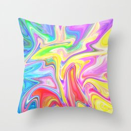 Gr00vy Waves Throw Pillow