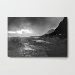 Sunset over the Lofoten Metal Print
