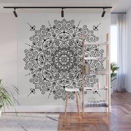 Moroccan Mandala – Black Ink Wall Mural