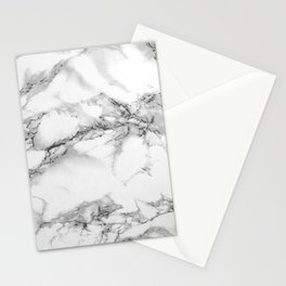 Marble - Gray Stationery Cards