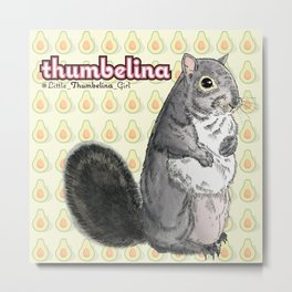 Little Thumbelina Girl: meerkat monday Metal Print
