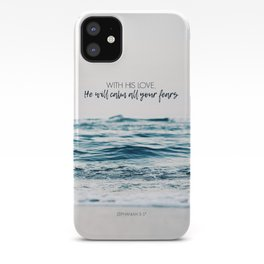 He Will Calm All Your Fears iPhone Case