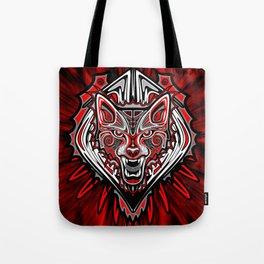 Wolf Tattoo Style Haida Art Tote Bag