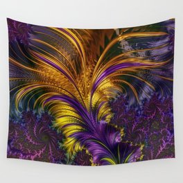 Fractal feather Wall Tapestry