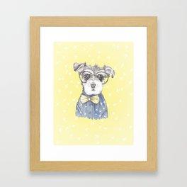 Schnauzer Dog Hipster Pup Framed Art Print
