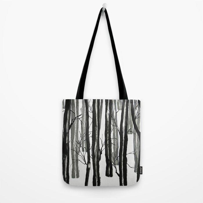 wood and snow Tote Bag