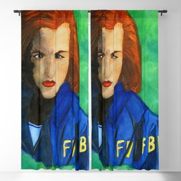Agent Scully FBI Blackout Curtain