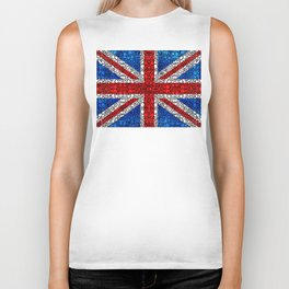 British Flag - Brittain England Stone Rock'd Art Biker Tank