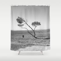 desert Shower Curtains featuring Desert by Frankpeti
