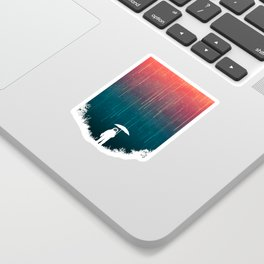 Meteoric rainfall Sticker