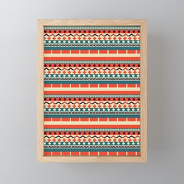 Ethnic lines Framed Mini Art Print