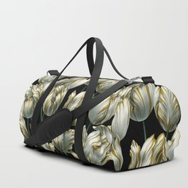 Winter Tulips in Gold. Duffle Bag