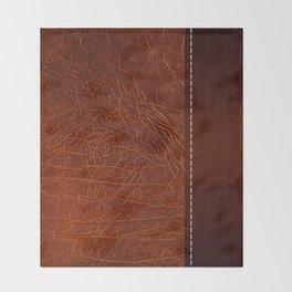 Brown leather look #2 Throw Blanket