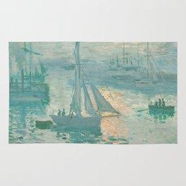 Claude Monet Marine Sunrise 1873 Rug