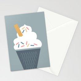 Ice Cream (Blue) Stationery Cards