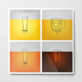 Golden Nectar Metal Print