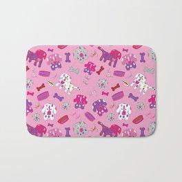 Pink, Purple, & Puppies Bath Mat