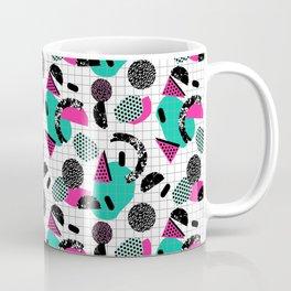 Cha Ching - abstract throwback memphis retro 80s 90s pop art grid shapes Coffee Mug