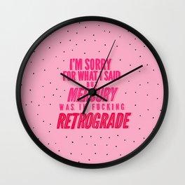Mercury Retrograde pt. 2 Wall Clock