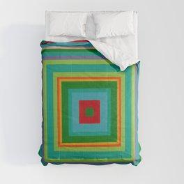 """""""Pop Ring Green""""   Op art Comforters"""