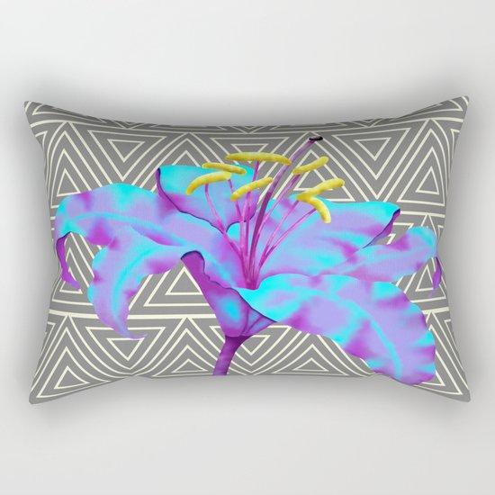 Geometric Lily Rectangular Pillow