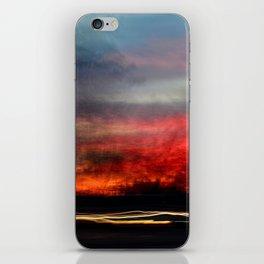 Night Lights Moving Sunset 2 iPhone Skin