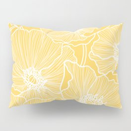 Sunshine Yellow Poppies Pillow Sham