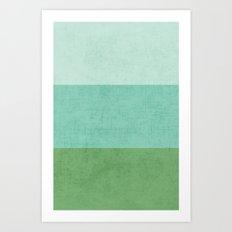 three stripes - river Art Print