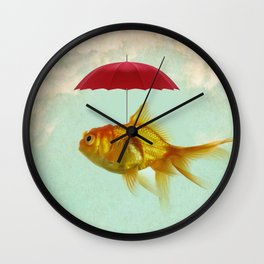 under cover goldfish 02 Wall Clock
