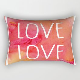 Love Love Love Rectangular Pillow