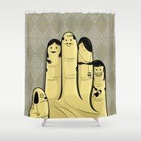 The finger family Shower Curtain