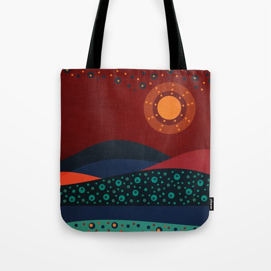 circular landscape Tote Bag
